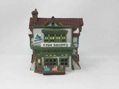 Dept 56 the Heritage Collection Dickens Village THE MERMAID FISH SHOPPE
