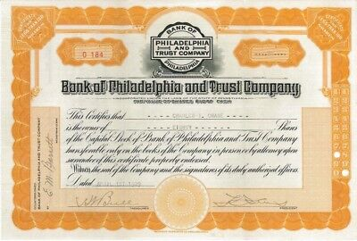 Bank of Philadelphia and Trust >  1929 Pennsylvania old stock certificate