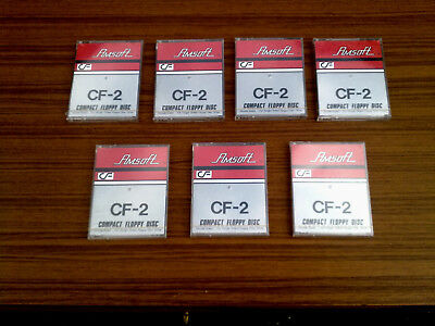 """AMSOFT CF2 3"""" compact floppy discs  x 7  -  New and Sealed."""