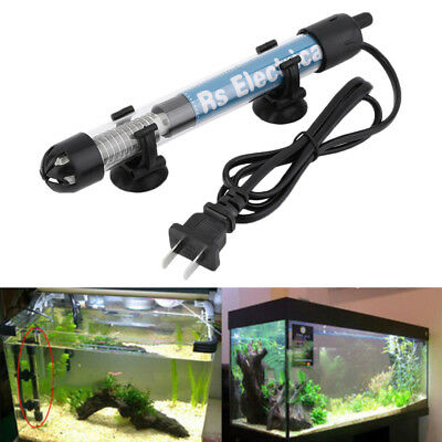 50W 100W Aquarium Mini Submersible Fish Tank Adjustable Water Heater MX