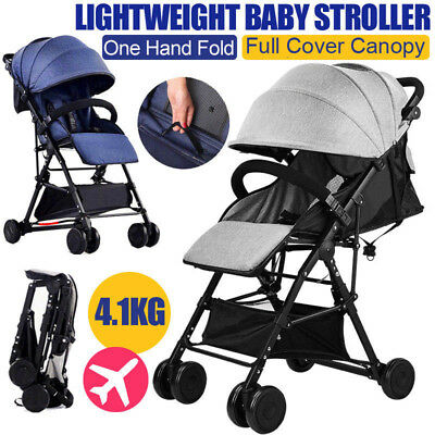 BABYCORE Fold Lightweight Compact Baby Stroller Pram Pushchair Travel Carry On