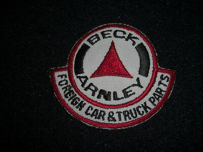 Beck Arnley Foriegn Car & Truck Parts Patch Vintage 1970's
