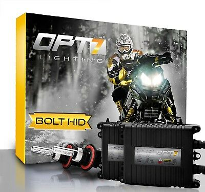 OPT7 Snowmobile AC HID Kit H13 Bi-Xenon 6000K 6K Blue Headlight Light Bulbs Sled
