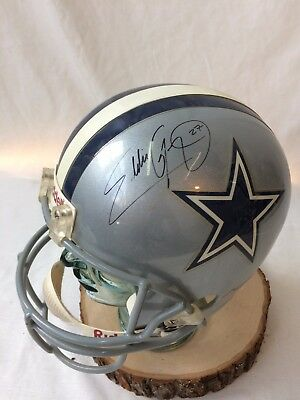 Dallas Cowboys Signed Eddie George #27 Riddell Replica Football Helmet