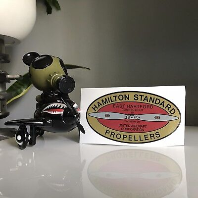Hamilton Standard East Hartford 1932-1952 WWII Airplane Propeller Decal 5.5 x 3