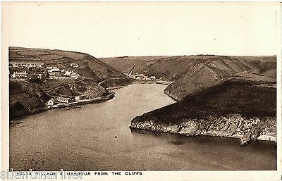 Solva Village and Harbour, old postcard, unposted