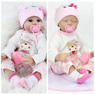 22'' Reborn Baby Dolls Real Life Like Looking Newborn Baby Girl Doll+Clothes