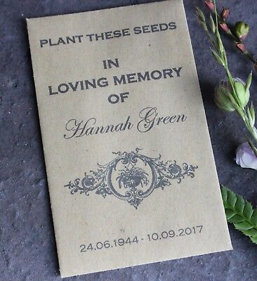 In Loving Memory-Funeral Favours-Personalised Seed Packets-Memorial-Remembrance