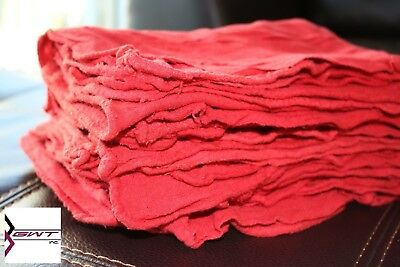 "100 Pcs Red Shop Towels Jumbo Size Rags 14""x15"" Cleaning Commercial Towels 155#"