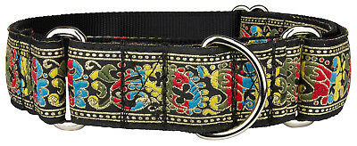 Country Brook Design® Colorful Paisley Woven Ribbon Martingale Dog Collar