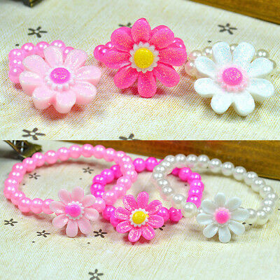 Gift New Bangle Sets Fashion Kids Jewelry Hot Girls Ring Bracelet Chain Children