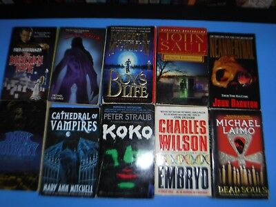 Lot Of 10 Horror  By Various Authors
