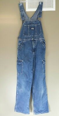 IKEDA Denim Overalls Unisex Medium Maternity Carpenter Bib Front Canada