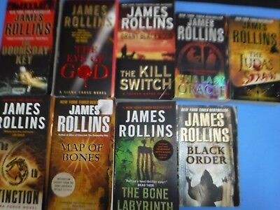 Lot Of 9 James Rollins Books