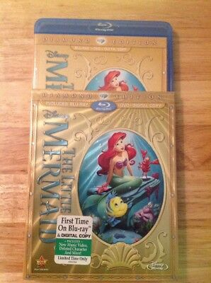 The Little Mermaid (Blu-ray/DVD,2013,2-Disc,Diamond Edition)Authentic Disney