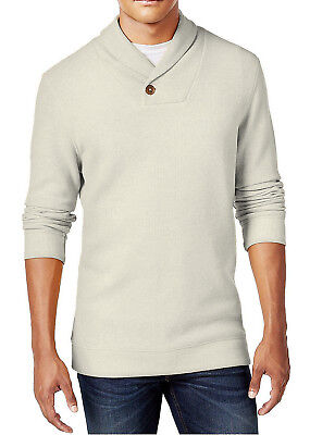 New Mens Tasso Elba Shortbread Heather Shawl Collar  Pullover Sweater $75