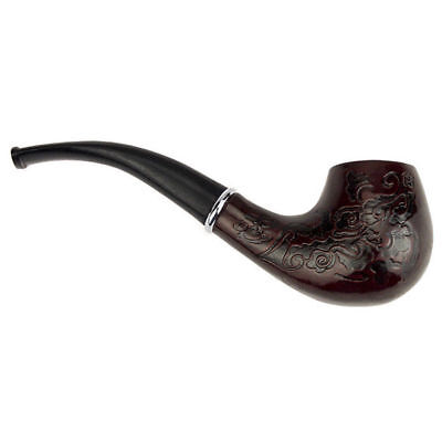 NICE Wooden Enchase Smoking Pipe Tobacco Cigarettes Cigar Pipes Gift Durable