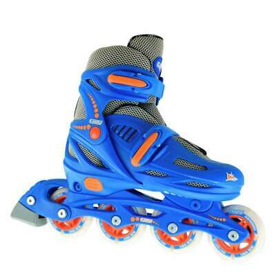 Crazy™ 148 Blue Kids Boys Girls 4 Size Adjustable Inline Roller Skates Blades