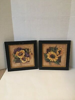 Home Interior Set Of Floral Pictures By Barbra Mock