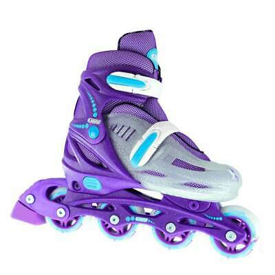 Crazy™ 148 Purple Kids Girls 4 Size Adjustable Inline Roller Skates Blades