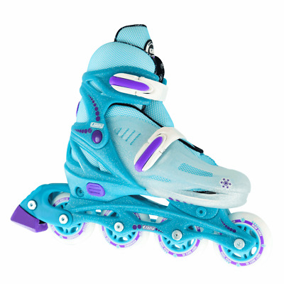 Crazy™ 148 Glitter Kids Girls 4 Size Adjustable Inline Roller Skates Blades