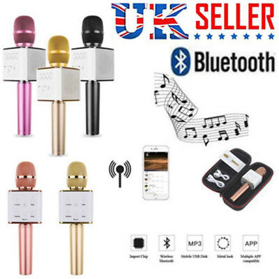 Q7 Q9 Pro Karaoke Microphone KTV Player Mic Speaker for Phone Bluetooth Wireless