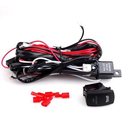 14ft Switch Relay Wiring Harness Kit 40A 12V w/ Buse For Two LED Work Light Bar