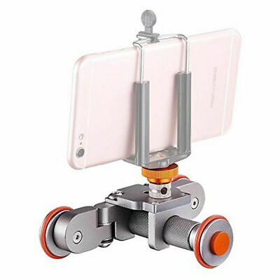 Tabletop Roll Slider Auto Dolly Car Motorized Camera Dolly 3 Wheel Video Slider