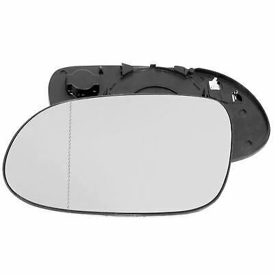 For Skoda Superb 01-06 Right Driver Flat Electric wing mirror glass w// plate