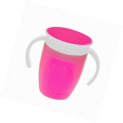 Munchkin Miracle 360 Degree Trainer Toddler Cup Easy To Clean 7oz 207ml Pink