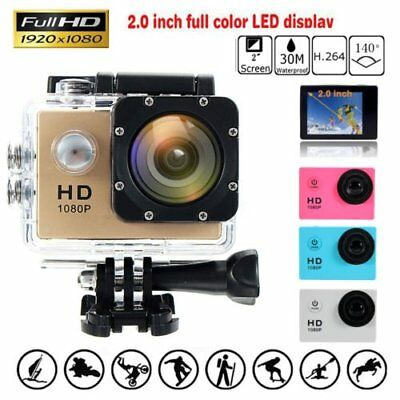 "New SJ4000 Waterproof Sports DV 1080P HD Video Action Camera 2.0"" Screen"