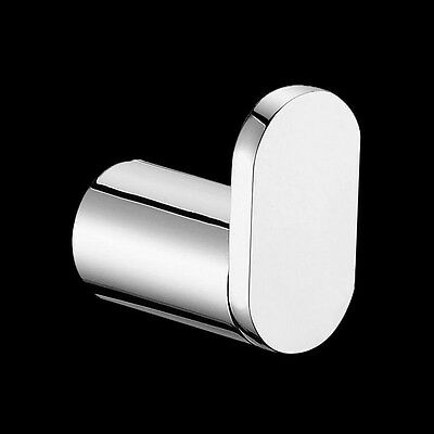 Bathroom Round S Stainless Steel Single Robe Hook Chrome Wall Mounted