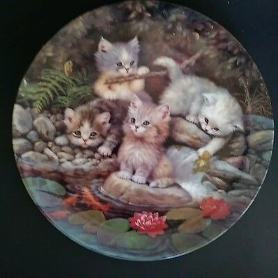 1996 Bradford Exchange Collectible Cat Kitten German Plate Scholz