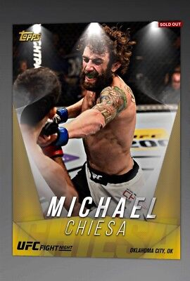 Topps UFC Knockout - Michael Chiesa 1/1 Gold Contest [Digital]