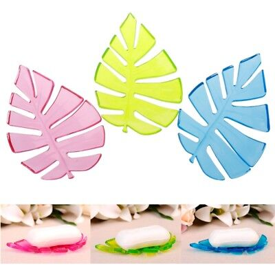 Leaf Shape Home Bathroom Shower Soap Holder Dish Storage Container Plate Tray