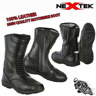 New Mens Motorbike Boots Biker Waterproof CE Armoured Shoes Motorcycle Leather