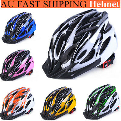 Mens Adult MTB Bike Bicycle Road Cycling 18 Holes Safety Helmet With Visor AU