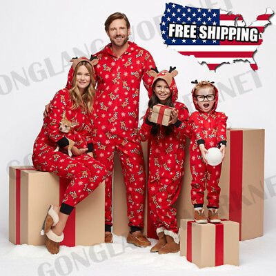Christmas Family Matching Pajamas Sleepwear Nightwear One-pieces Outfits Costume