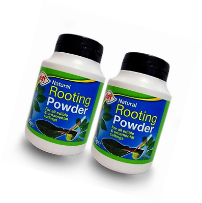 2 x Doff® Hormone Rooting Powder 75g - Help New Roots On Cuttings and Promotes S