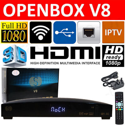 GENUINE OPENBOX V8 FULL HD Freesat PVR Smart TV Satellite Receiver Channel Box