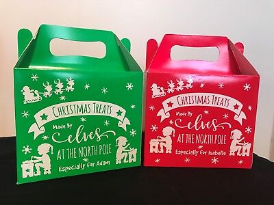 Personalised Christmas Eve Treats Box Made By Elves Elf Father Christmas Santa