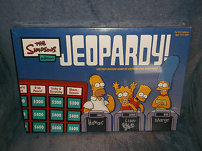 The Simpsons Edition Jeopardy Board Game 2003 Pressman Toy Corp - New Sealed