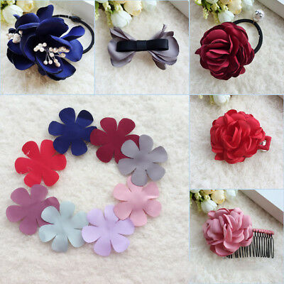 100pcs Stain Cloth Flower Petal Ornament Headdress Hairband DIY Making Material