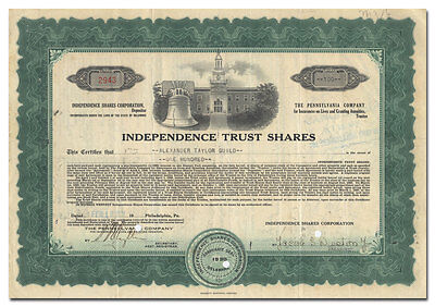 Independence Trust Shares Stock (Liberty Bell and Independence Hall Vignette)