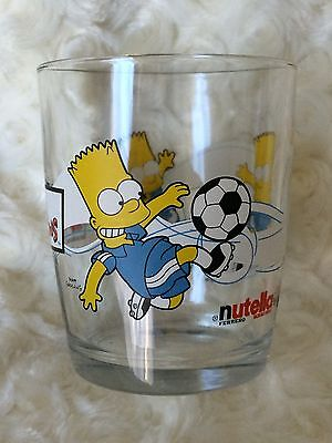 Bart Simpson collectable glass with soccer theme.