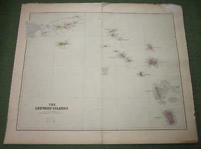 The Leeward Islands, Edward Stanford, Caribbean Map