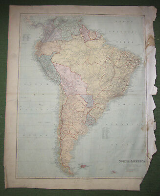 South America, Edward Stanford, Map