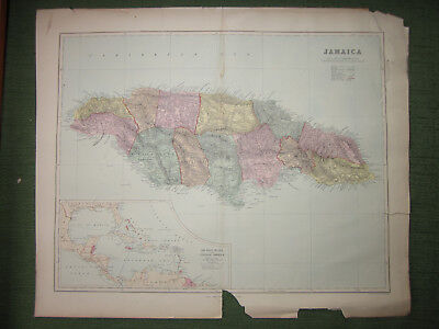 Jamaica, [with inset of] West Indies and Central America,