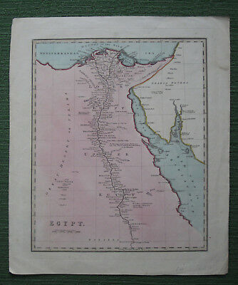 Map of Egypt and The Nile, Cairo, North Africa