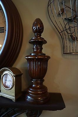 "Large Resin ""Wood Look"" Architectural Finial Statue - 14.5"" tall x 4.5"" wide"